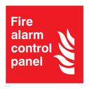 flames Text: Fire alarm contol panel