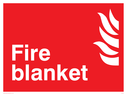 flames symbol Text: fire blanket