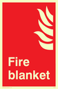 flames symbol Text: fire blanket