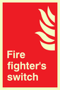 flames symbol Text: Fire fighter's switch