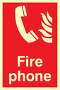 phone & flames Text: fire phone