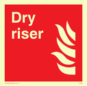 flames Text: dry riser