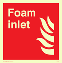 flames Text: foam inlet