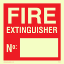 blank space for own wording Text: fire extinguisher no