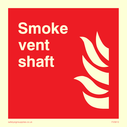 <p>Smoke vent shaft with flame symbol</p> Text: Smoke vent shaft