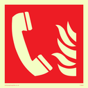 phone and flames symbol Text: None