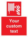 <p>Custom Fire Hose reel</p> Text: