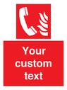 <p>Custom Fire Emergency telephone</p> Text: