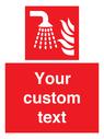 <p>Fire Water fog applicator</p> Text: