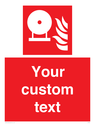 <p>Fire Extinguisher bottle</p> Text: