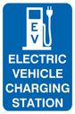 Electric vehicle charging sign Text: Electric vehicle charging point