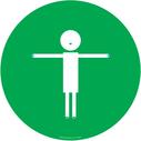 green-background-child-symbol-showing-2m-distance~