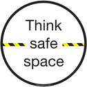 <p>Think safe space</p> Text:
