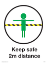 <p>Child friendly Keep safe 2m distance</p> Text:
