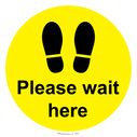 <p>Please wait here - yellow</p> Text:
