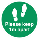 <p>Please keep 1m apart - green</p> Text: