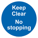 <p>Keep Clear No stopping</p> Text: