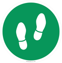 <p>Walking feet symbol only - green background</p> Text:
