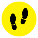 <p>Walking feet symbol only - yellow background</p> Text: