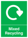 <p>Mixed recycling</p> Text: Mixed recycling