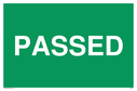 <p>Stop - text only</p> Text: Passed