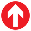 <p>Directional arrow - red</p> Text:
