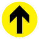 <p>directional arrow - yellow</p> Text: