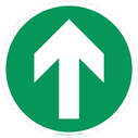 <p>directional arrow - green</p> Text: