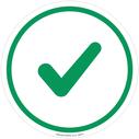 <p>Generic green tick</p> Text: