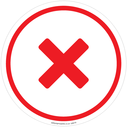 <p>Generic red cross</p> Text: