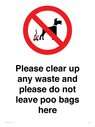 <p>Please clear up any waste and please do not leave poo bags here</p> Text: