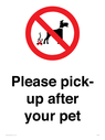 <p>Please pick-up after your pet</p> Text: