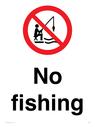 <p>No fishing</p> Text: