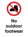 <p>No outdoor footwear</p> Text: