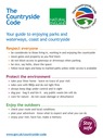 <p>Countryside Code Poster</p> Text: