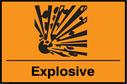 Explosive symbol Text: Explosive
