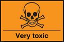 Toxic/Poison symbol Text: Very toxic