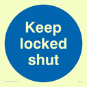 <p>keep locked shut in blue circle</p> Text: keep locked shut