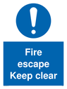 pfire-escape-keep-clear-sign-p~