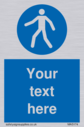 custom-pedestrian-only-sign-add-your-own-custom-text-normal-delivery-times-apply~