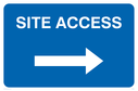 arrow right Text: Site access