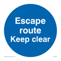 escape-route-keep-clear-sign-~