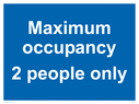 <p>Maximum occupancy 2 people only</p> Text: Maximum occupancy 2 people only