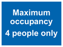<p>Maximum occupancy 4 people only</p> Text: Maximum occupancy 4 people only