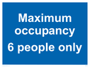 <p>Maximum occupancy 6 person only</p> Text: