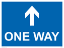 <p>One way with up directional arrow</p> Text: