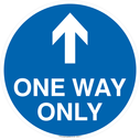 <p>One way only with up directional arrow</p> Text: