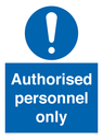 <p>Authorised personnel only</p> Text:
