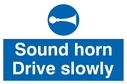 sound-horn-drive-slowly-warehousing-and-delivery-sign-~
