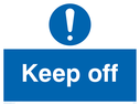 exclamation symbol Text: keep off